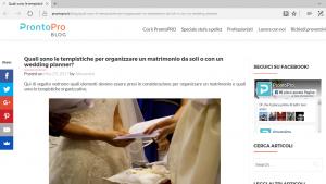 Tempistiche per organizzare matrimonio